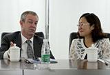 国际无人操控系统协会主席Brian Wynne造访JTT智璟科技有限公司