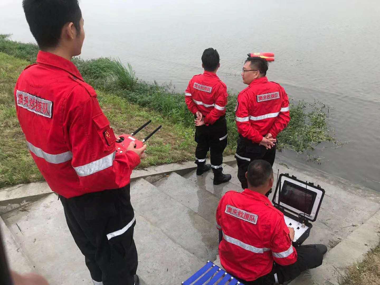 R1水上救援机器人参与扬州市防汛抢险实战演习(组图)